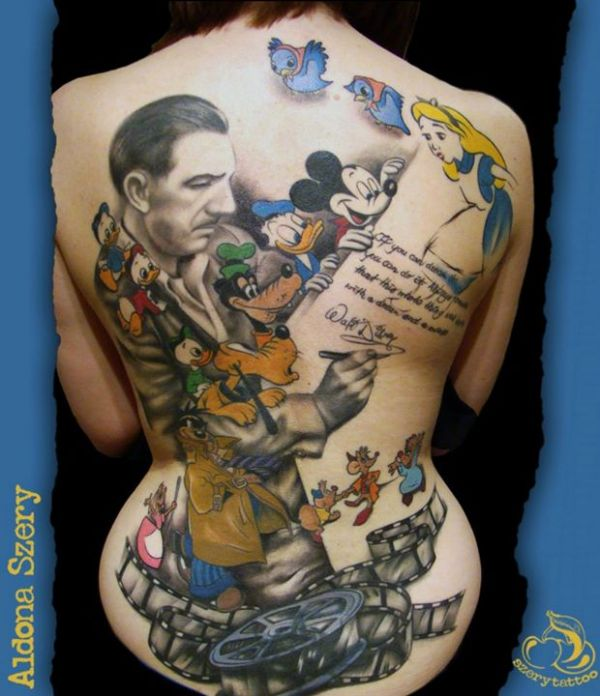 Colorful disney ursula tattoo design for sleeve by audie for Disney world tattoos