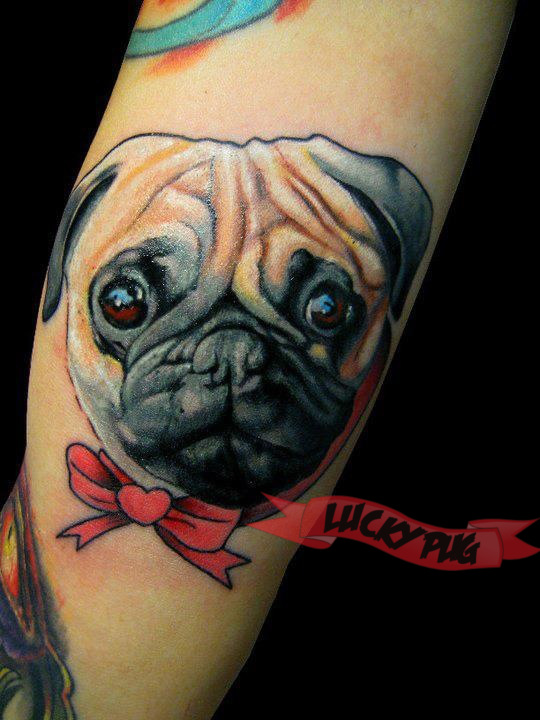 Tribal Heart With Banner 25+ Pug Tattoo Images,...