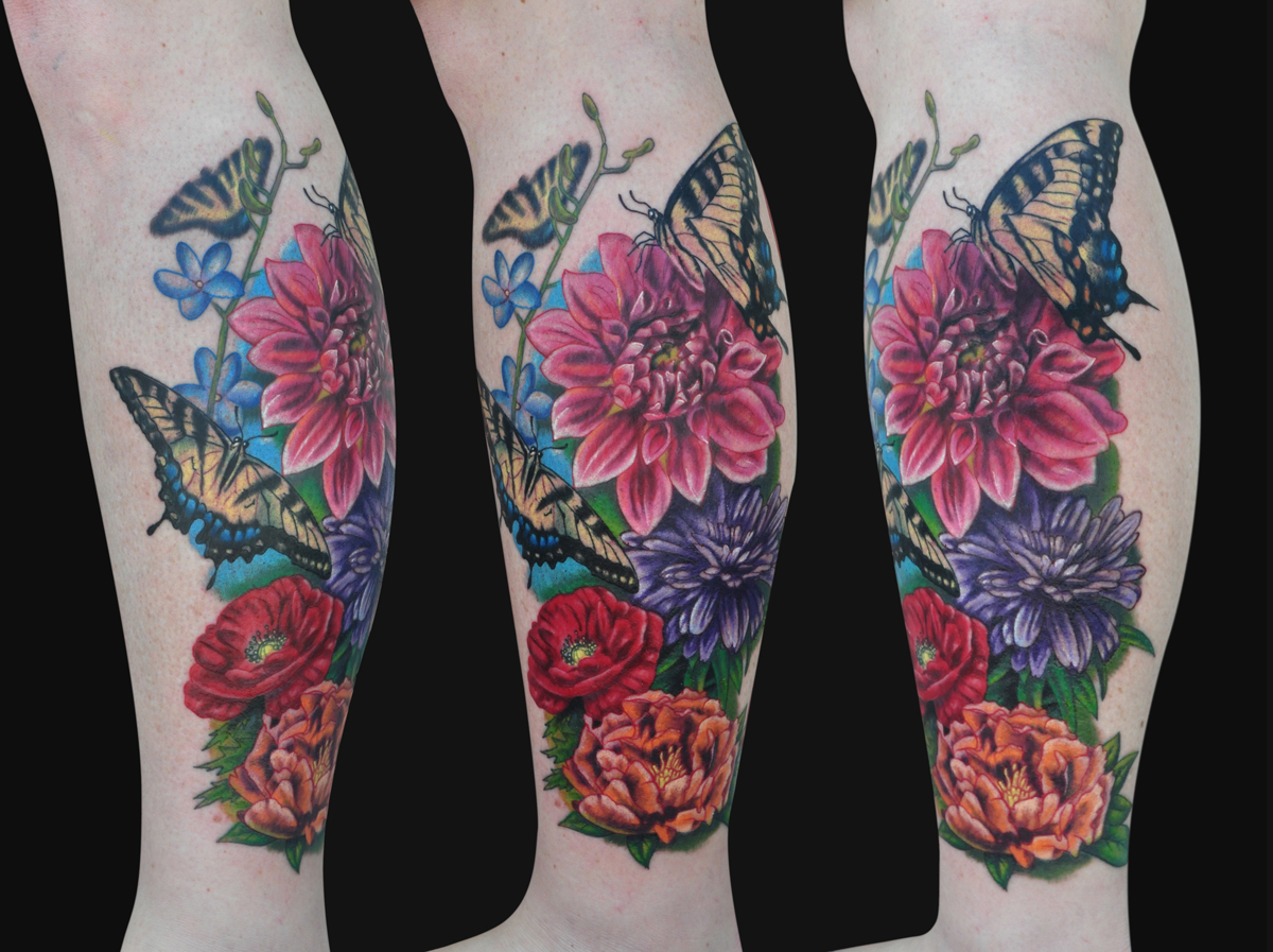 sleeve tattoos floral - photo #41