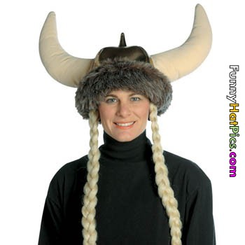 girl with bull horn hat funny picture
