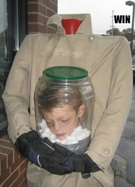 & Girl With Headless Costume Funny Picture