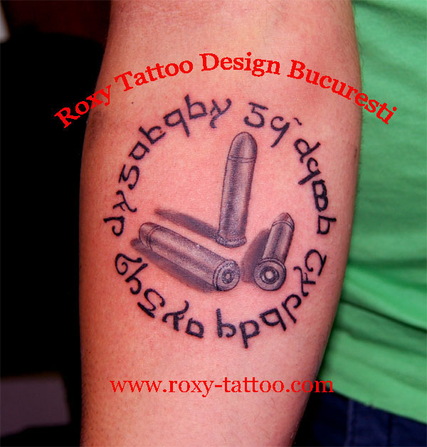 25 Latest Bullet Tattoo Images, Pictures And Ideas Bullet Band Tattoo