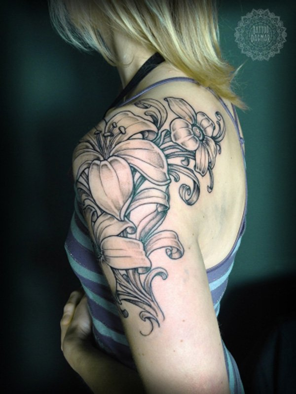 Flower Sleeve Tattoo Designs: 20 Best Flowers Sleeve Tattoo Design, Images And Pictures