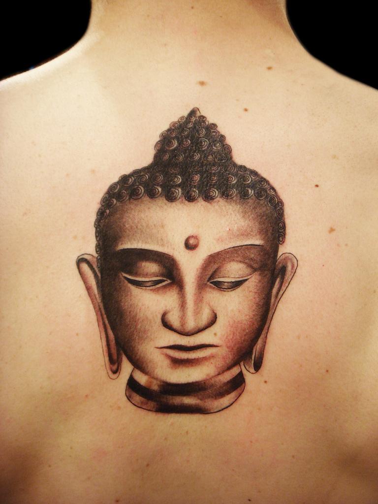 30 Most Incredible Buddha Head Tattoos and Designs for Gautam Buddha Face Tattoo  76uhy