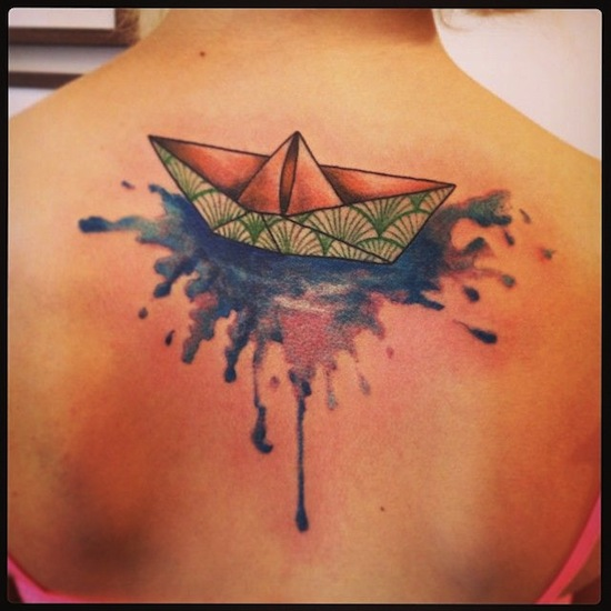 Tattoo Designs In Paper: 21 Beautiful Boat Tattoo Images, Designs And Pictures
