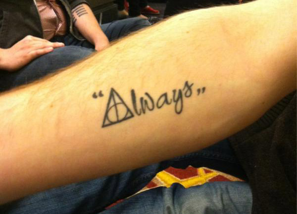 Always Deathly Hallows Tattoo On Forearm By Noreen