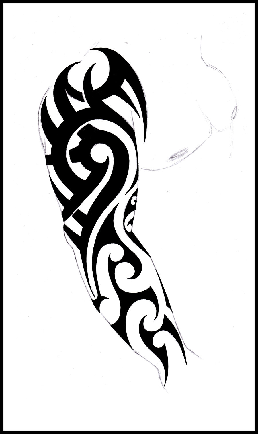 21 awesome tribal sleeve tattoos designs images and pictures for Images of tribal tattoos