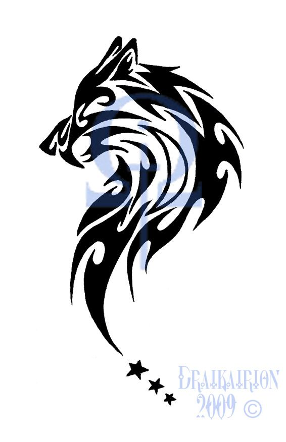 49 latest wolf tattoo designs and ideas for Tribal wolf tattoo