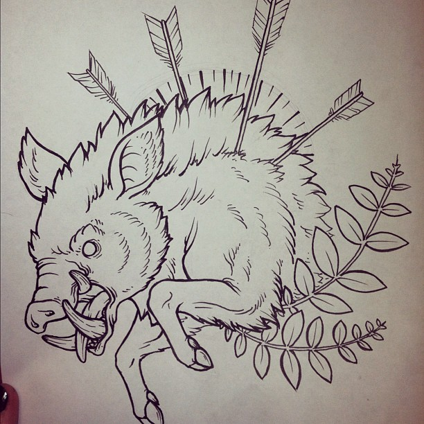 19 boar tattoo designs samples and ideas rh askideas com Wild Boar Tattoos for Men boat tattoo designs