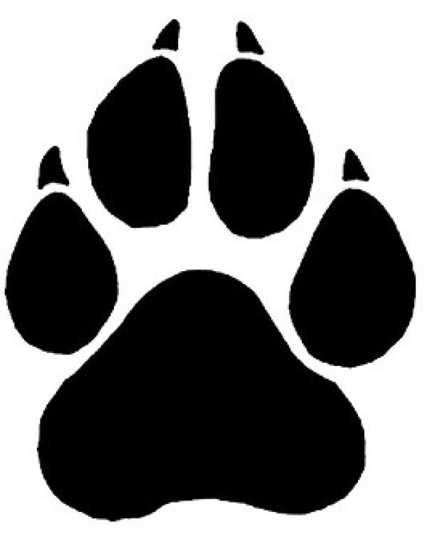 e4f02ce0dff3b Black Leopard Paw Print Tattoo Stencil