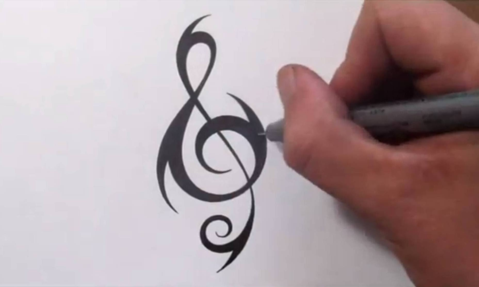 8 unique treble clef tattoo designs and ideas. Black Bedroom Furniture Sets. Home Design Ideas
