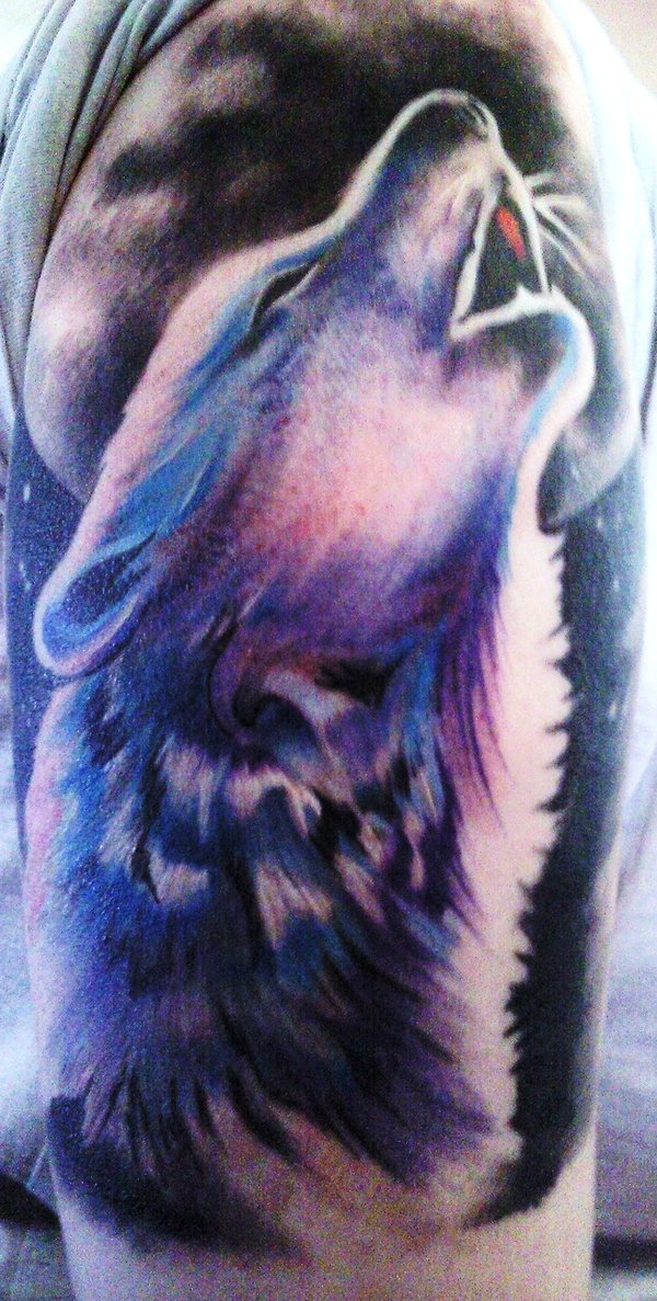 Image Gallery howling wolf tattoo designs