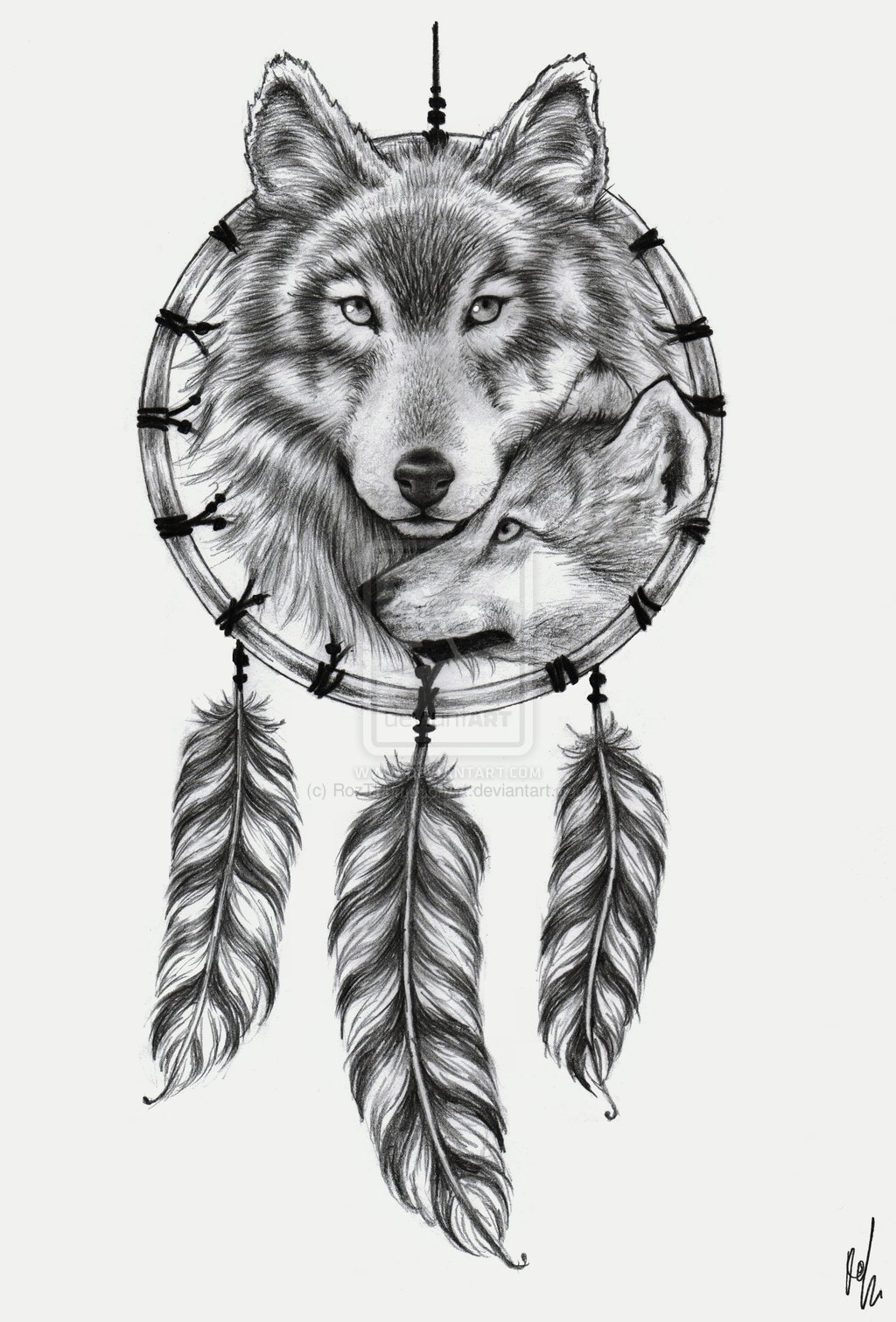 Dreamcatcher Wolf Tattoo Tumblr Galleryhipcom The