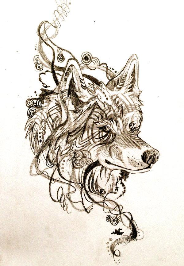 fantastic wolf head tattoo design - Tattoo Idea Designs