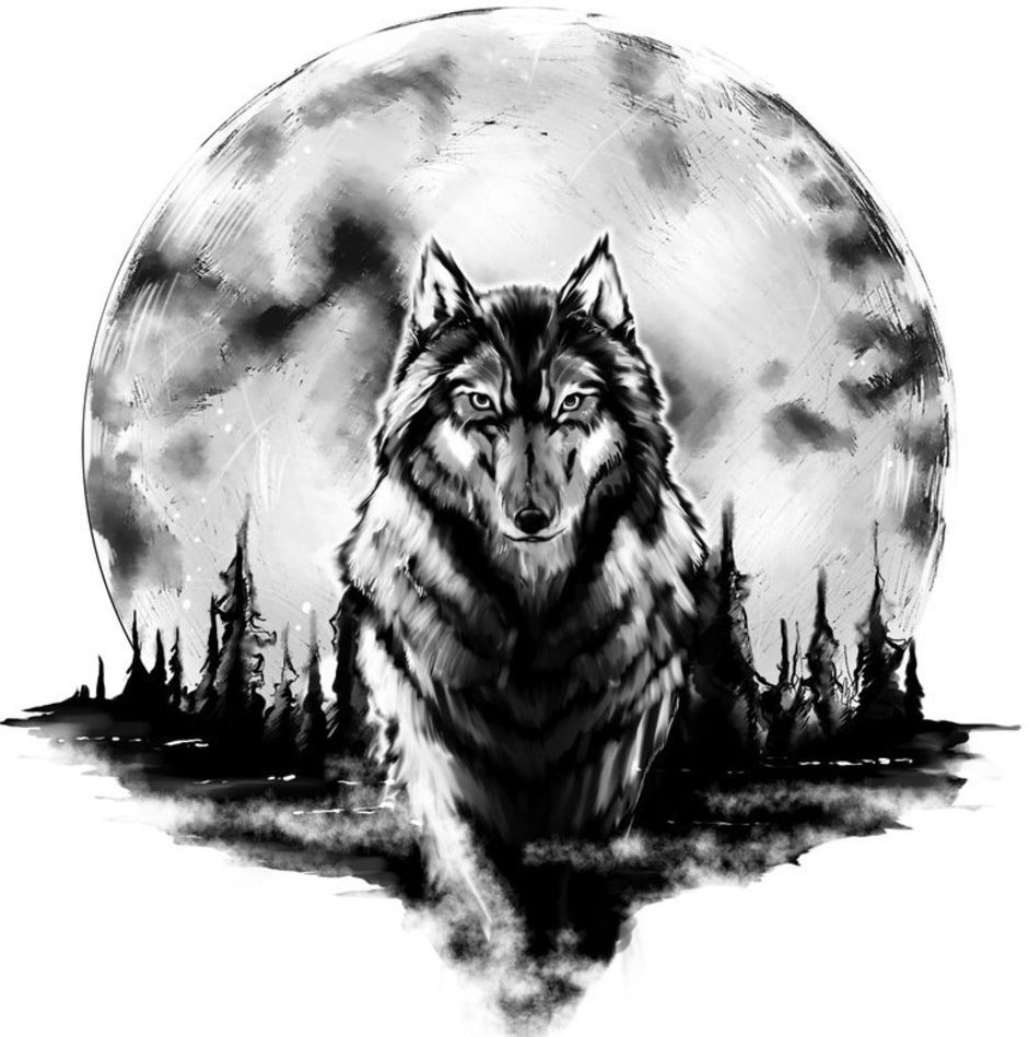 Alpha wolf tattoo design - photo#24