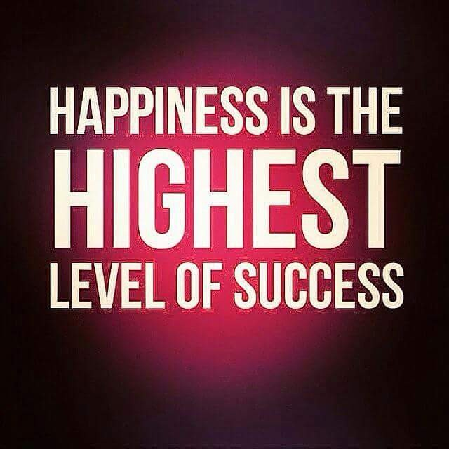 happinesss is success Is happiness the end goal the opposite of happiness is not sadness bu: is the average person's baseline somewhere in between happy and unhappy.