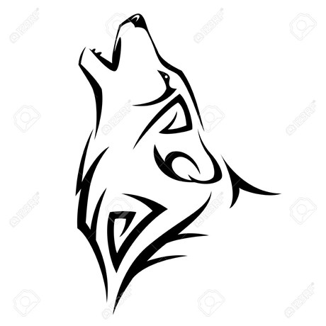 Simple wolf design - photo#16
