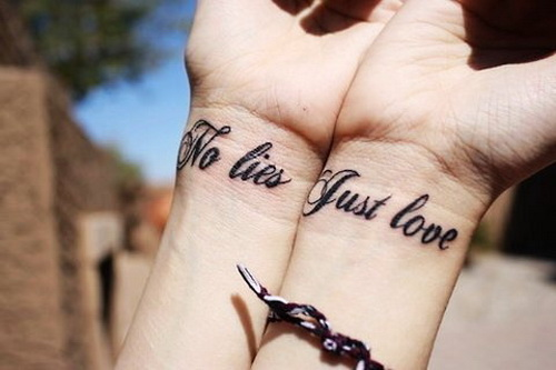 Love Tattoos For Couples Quotes Interesting 15 Love Quotes Designs Pictures And Images Ideas