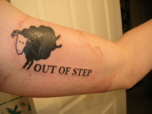 Sheep tattoos for Black sheep tattoo