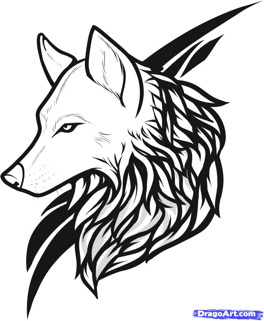 Line Drawing Wolf Head : Simple wolf tattoo art design and ideas for tattooing