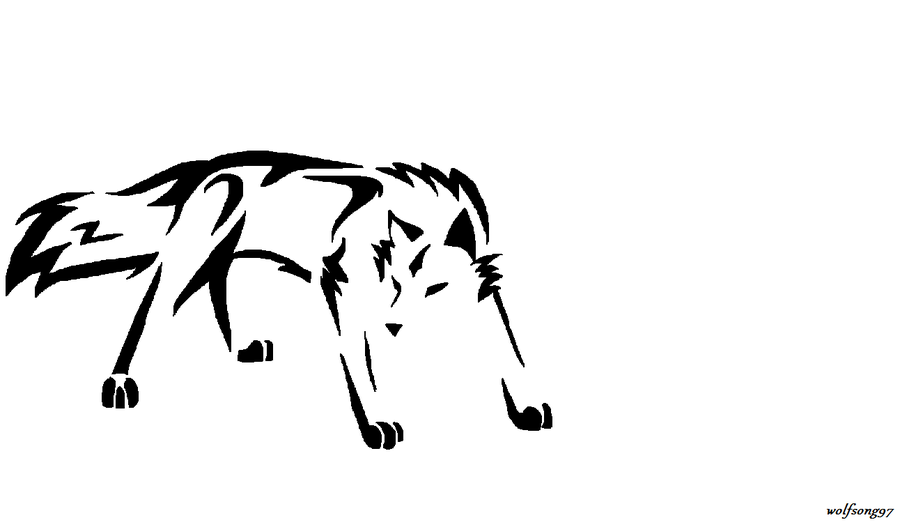 Simple wolf design - photo#8