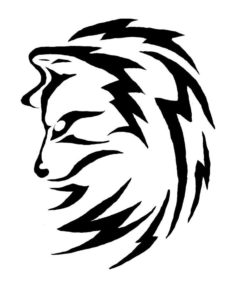 24 simple wolf tattoo art design and ideas for tattooing for Easy tribal tattoos