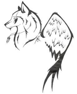 Simple wolf design - photo#27