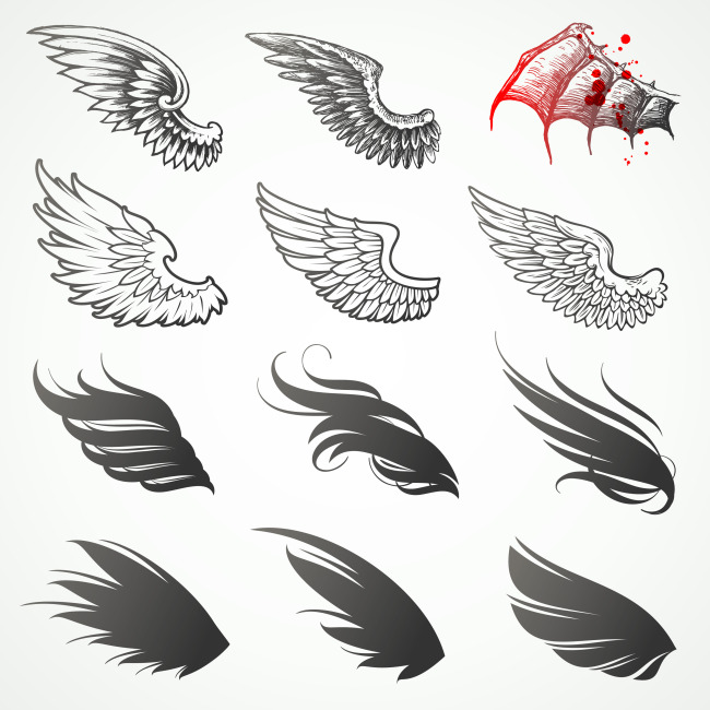 16 Wings Tattoo Designs, Samples And Ideas