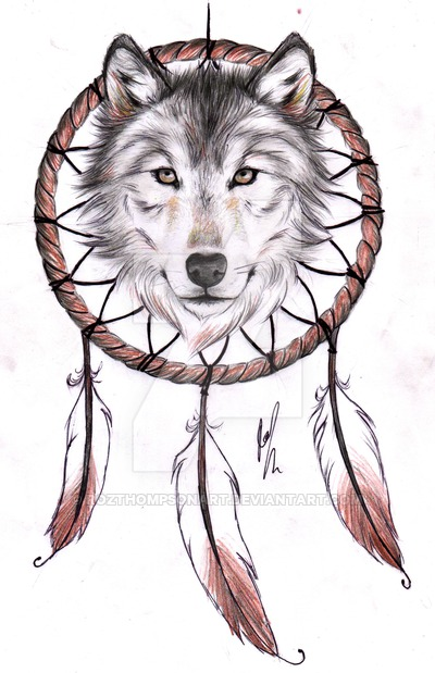 25 Dreamcatcher Wolf Tattoo Designs Images And Pictures