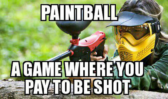 Paintball, Funny sports and Funny on Pinterest
