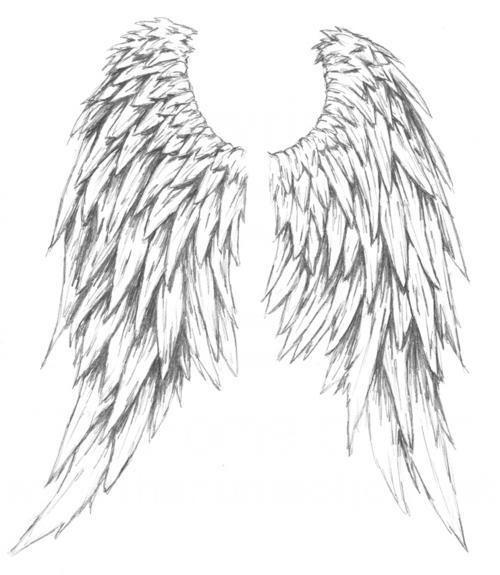 Amazing Angel Wings Tattoo Design