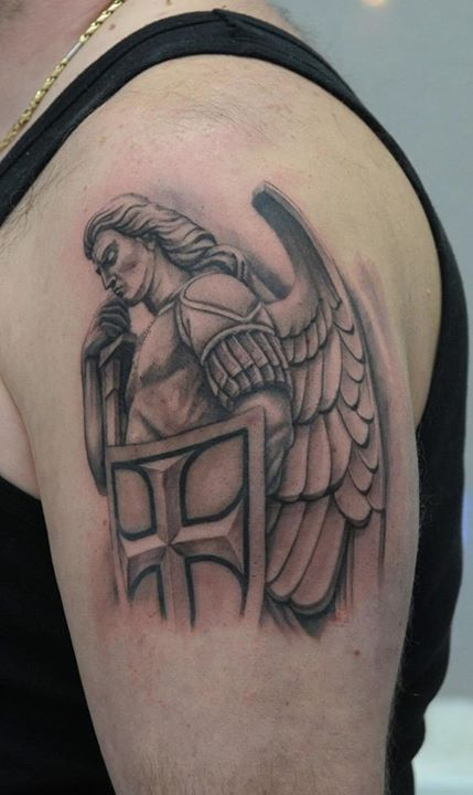 27 warrior angel tattoos designs images and ideas