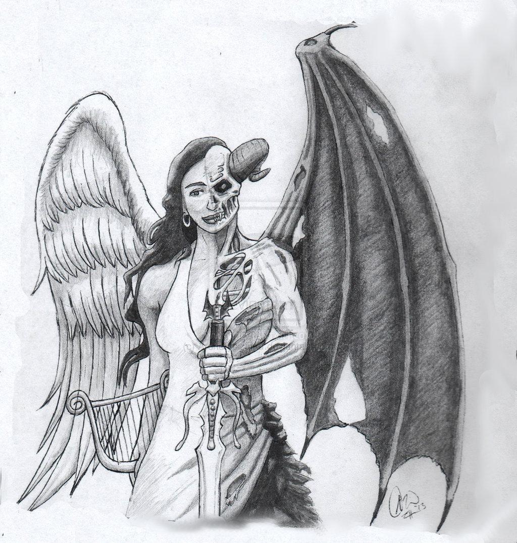 27 angel and demon tattoos