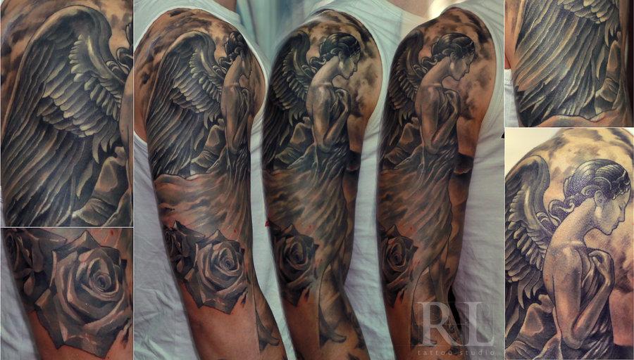 26+ Angel Sleeve Tattoos Ideas