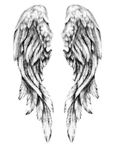 Angel Wings Feathers Tattoo Design