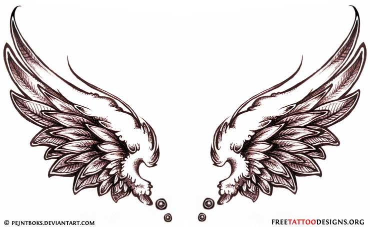 45 Angel Wings Tattoo Designs And Images