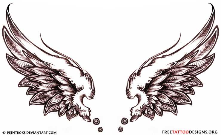 Angel Wings Tattoo Design Sample