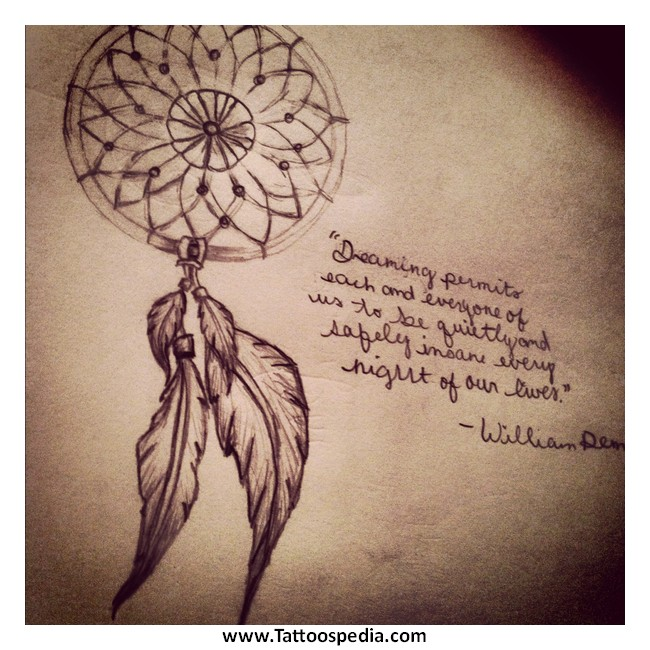 Quotes That Go With Dream Catchers 40 Dreamcatcher Tattoos With Quotes 20