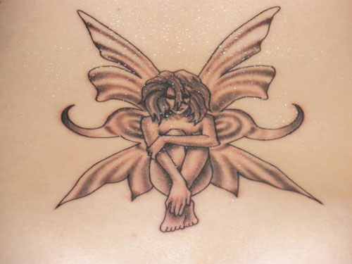 Awesome Small Angel Tattoo