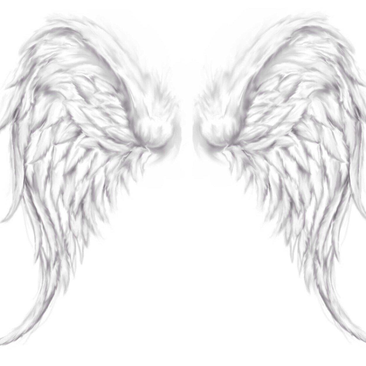 Beautiful Angel Wings Tattoo Design
