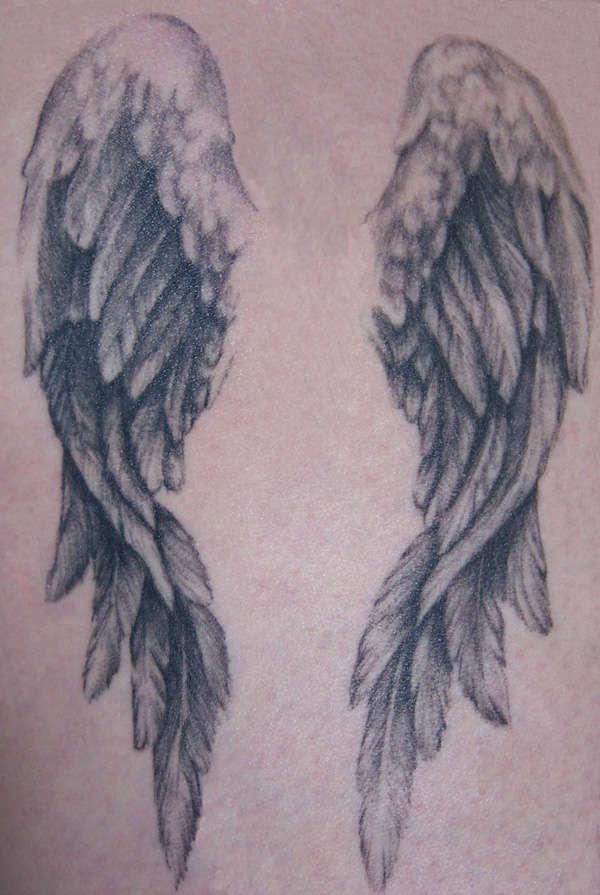 Beautiful Angel Wings Tattoo Idea