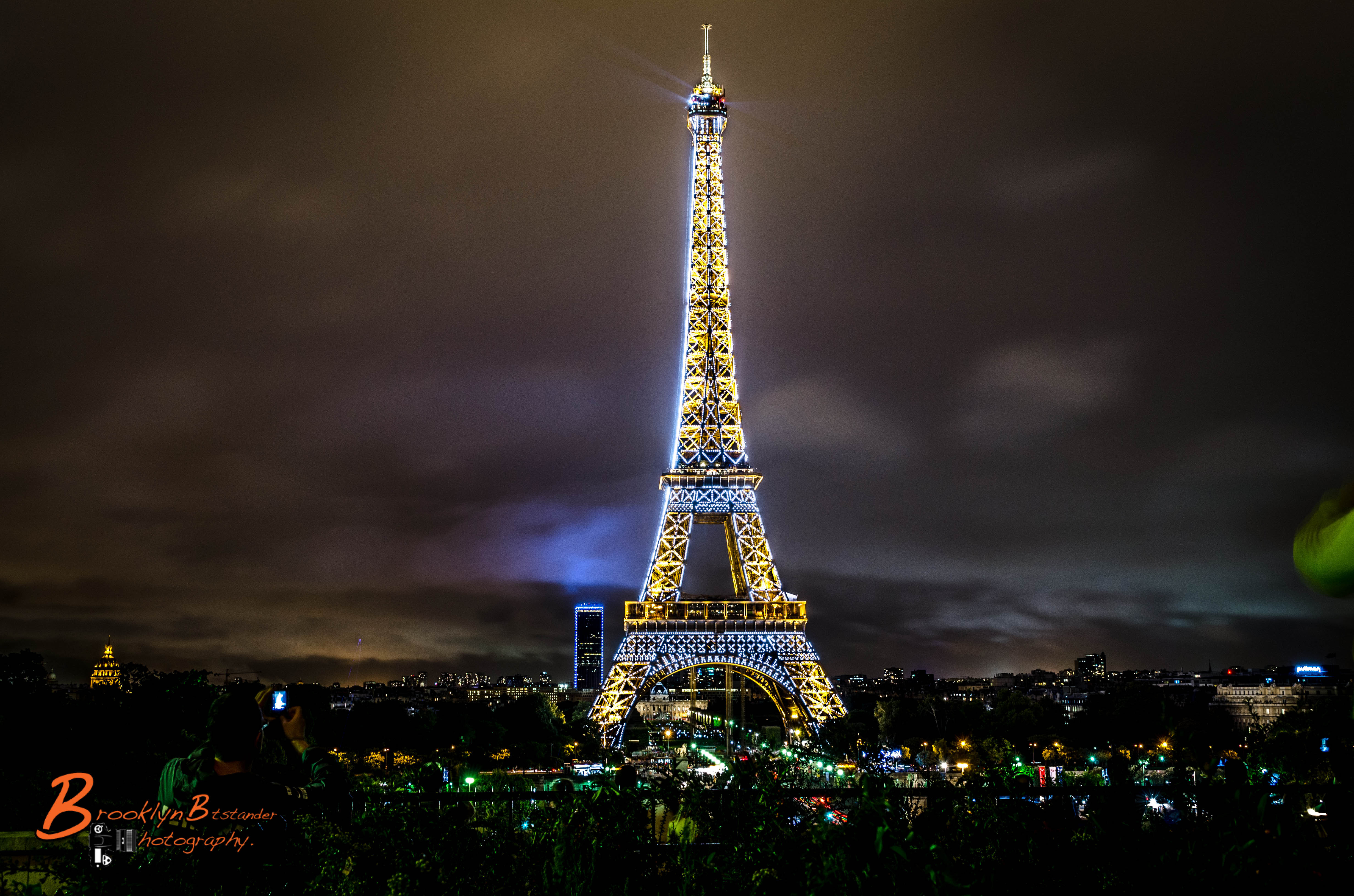 Beautiful Eiffel Tower And Paris At Night