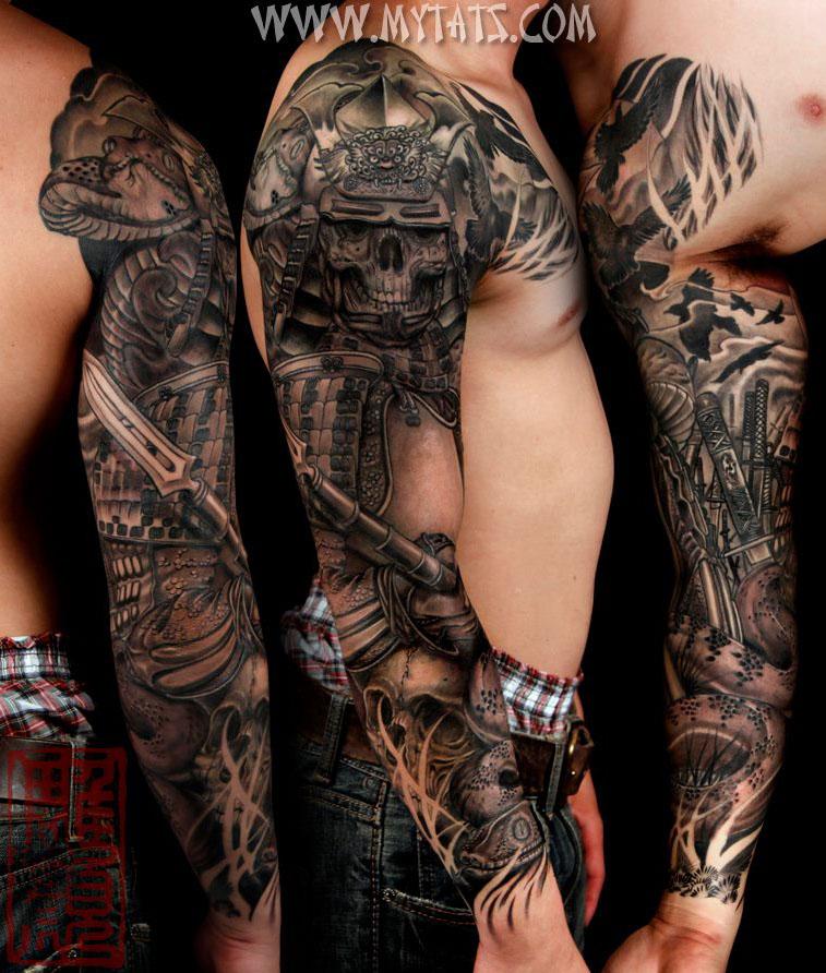 Татуировки мужские рукава фото