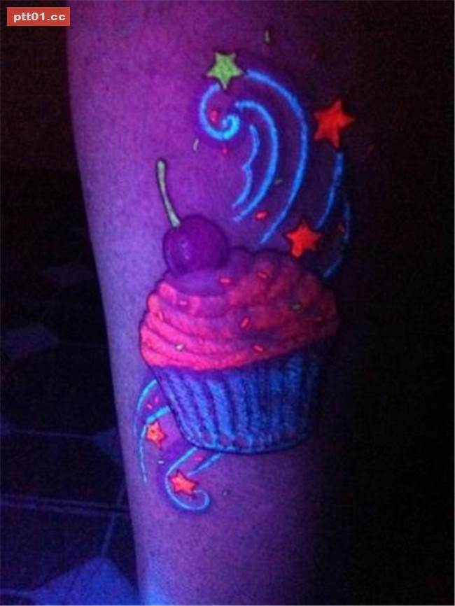 Blacklight Angel Wings Tattoo On Full Back