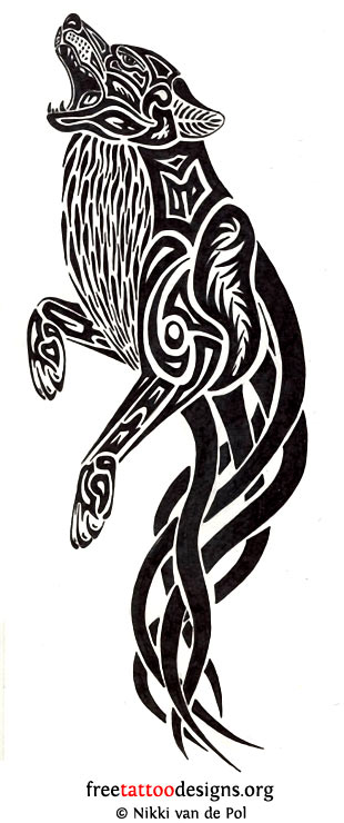 17 celtic wolf tattoos. Black Bedroom Furniture Sets. Home Design Ideas