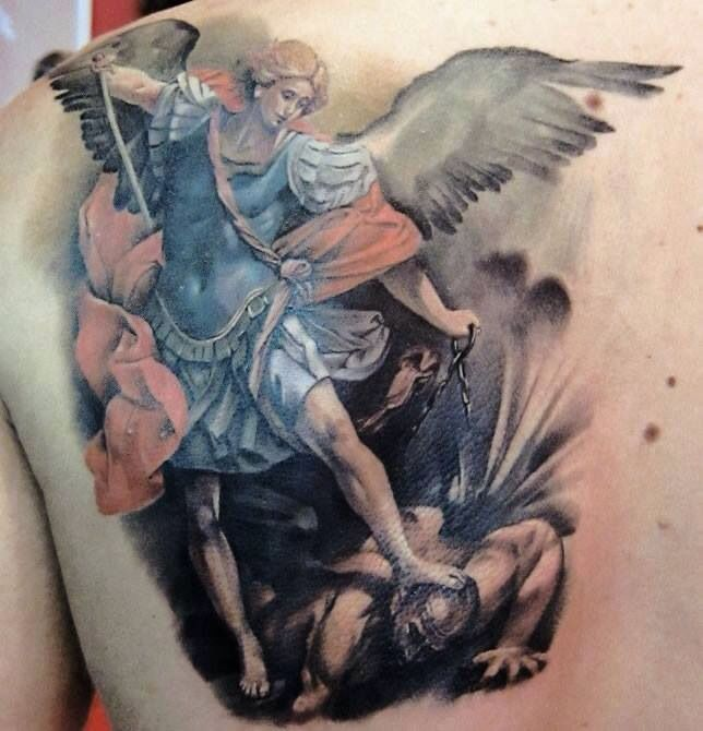 angels vs demons war tattoo - photo #8