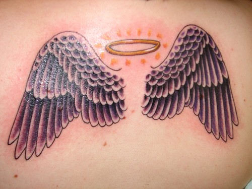 Cool Angel Wings Tattoo Designs For Girls