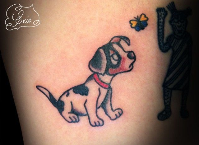 puppies tattoos colorful disney characters tattoo flash by evie yapelli 5059