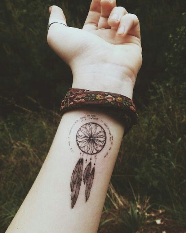 40 Dreamcatcher Tattoos On Wrist For Girls Delectable Dream Catchers For Girls
