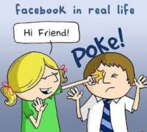 Facebook In Real Life Funny English Joke